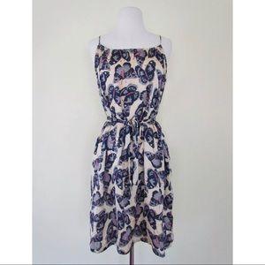 TUCKER FOR TARGET Butterfly Print Tie Waist Dress